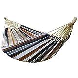 ZJM Hamaca Camping,Hamaca de Algodón,para Jardín al Aire Libre Cama Portátil de Lona con Cuerdas,para Jardín Patio Trasero Playa Mochileros
