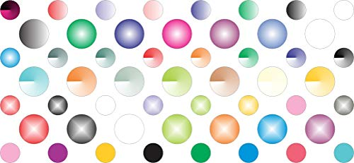 StickerTalk Pastel Camera Dots Webcam Covers, 1 sheet of 32 stickers at .25 inches diameter, 21 stickers at .375 inches diameter.