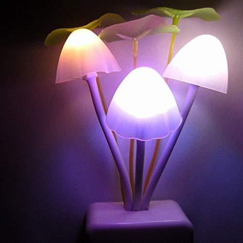 Yangeryang Luces Decorativas, La Luz De La Moda De La Moda De La Moda con La Luz Nocturna De Los Hongos del Sueño, AC 110-220V, Enchufe De La UE
