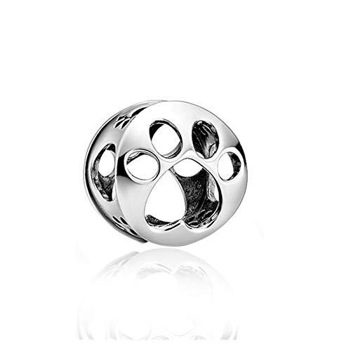 YJTT Primavera Nuevo 925 Sterling Silver Series Charms Fit Original 3MMBracelet Bangle DIY Joyería Haciendo (Color : CMS204b)