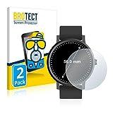 BROTECT 2X Entspiegelungs-Schutzfolie kompatibel mit Armbanduhren (Kreisr&, Durchmesser: 56 mm) Matt, Anti-Reflex, Anti-Fingerprint