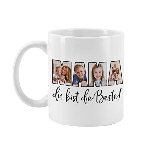 Herz & Heim® Kreative Foto-Kaffeetasse mit eigenen Bildern für die beste Mama selbst gestalten