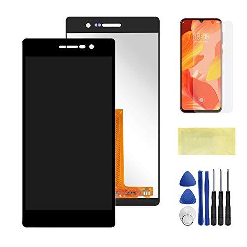 Pantallas LCD para teléfonos móviles Conjunto de Pantalla digitalizador de Pantalla táctil LCD con Marco/Ajuste para Huawei Ascend P7 P7-L00 P7-L05 P7-L10 (Color : Black No Frame)