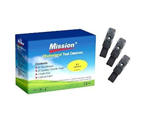Mission 3 in 1 Cholesterin Teststreifen 25 Stück | zur genauen Messung der Cholesterinwerte mit dem Mission Messgerät (NICHT in diesem Set enthalten)