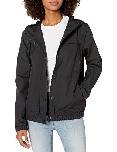 Volcom Damen Junior's Enemy Stone Hooded Windbreaker Jacket Kleid, schwarz, Mittel