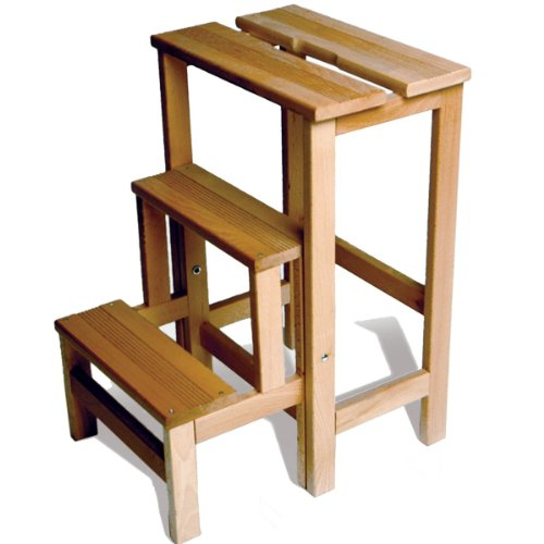 Radius - Hockerleiter, Tritt- kleine Leiter, Trittleiter, Klapphocker - Holz - Buchenholz