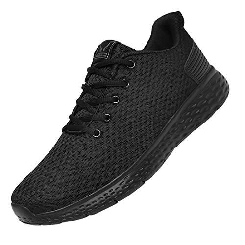 DUORO Herren Leichte Sportschuhe Laufschuhe Atmungsaktiv Turnschuhe Gym Fitness Sneaker (Schwarz, Numeric_43)