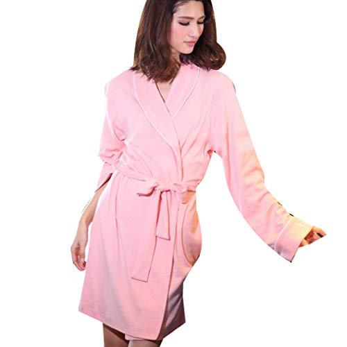 Crystallly Dames Katoen Terry Badjas Housecoat Sauna Robe Lounge Jas Housecoat Eenvoudige Stijl Heldere Arbitrator En Zeer Aantrekkelijke Sectie Thuis Mode Comfortabele pyjama