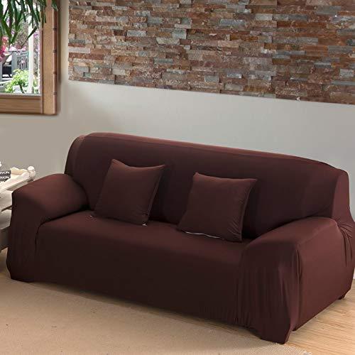 ASCV Funda de sofá de Color sólido para Sala de Estar Blanca como la Nieve Funda de sofá elástica a Prueba de Polvo Funda de sofá Toalla elástica para sofá A2 1 Plaza