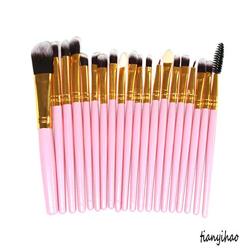 MPKHNM Direct makeup brush eye brush set wooden handle beauty tools pink