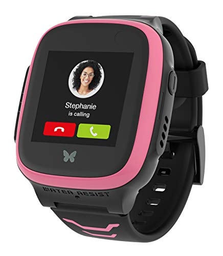 XPLORA X5 Play - Watch Phone for Children (SIM Free) 4G - Calls, Messages, Kids School Mode, SOS Function, GPS Location, Camera and Pedometer (Pink)