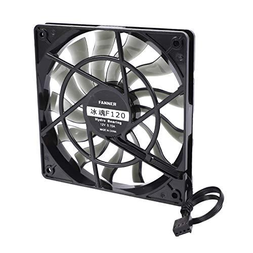 Gaetooely Thin 12Mm Thickness 120X120X12Mm 12V Ventilador Silencioso de Host de Computadora de Escritorio con Velocidad 12CM Ventilador de Enfriamiento del Chasis