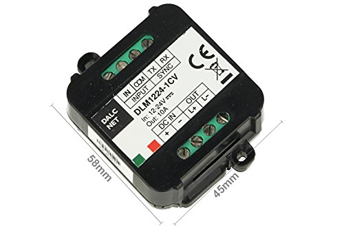 Dalcnet DLM1224-1CV Led Dimmer Master Slave Amplificatore PWM 12V 24V 10A Pulsante N.O. 0 1-10V Potenziometro