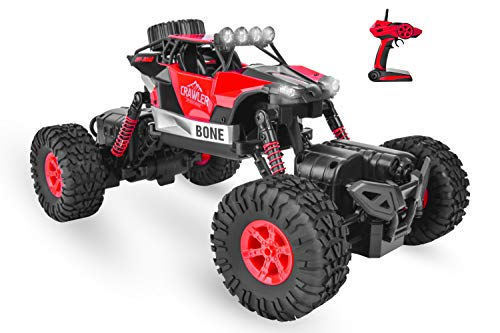 Remote Control RC 4x4 Monster Truck Waterproof RC Remote Control Cars Offroad 4WD RC Rock Crawler for 6-15 Years Old Boys Kids Gift