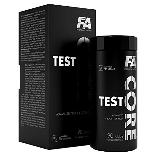 FA Test CORE - Premium Testosterone Booster - Muscle Mass Growth - Hormone Support - Food Supplement