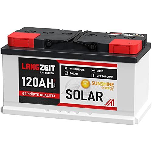 Solarbatterie 120Ah 12V Wohnmobil Boot Wohnwagen Camping Schiff Batterie Solar 100Ah