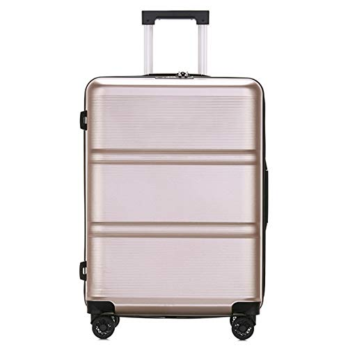 XIANGSHAN Práctico ABS + PC Estuche de Trolley, Bolsa de Equipaje de súper Almacenamiento, Ruedas de Viaje Rolling Boarding, 20'24' Pulgadas (Color : Black, Size : 20inch)