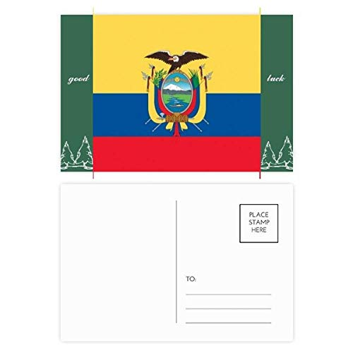 Ecuador Nationalflagge Südamerika Land Glücksbringer Postkarten-Set Karte Mailing Seite 20 Stück