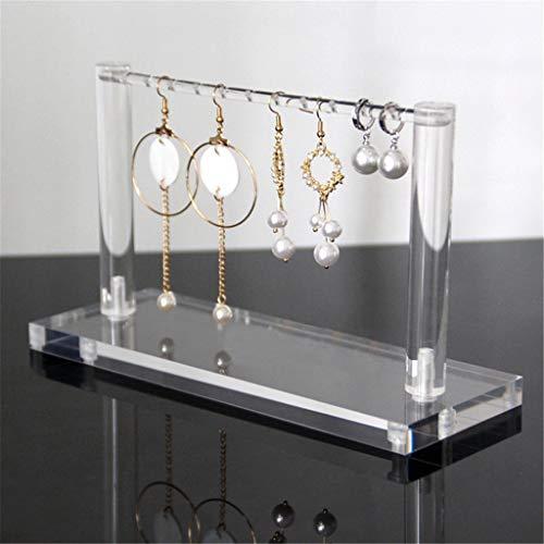 Jewelry Storage transparant acryl Perspex Hanger Oorbellen Hanger Toon standhouder Ondersteuning Case Desktop Opknoping Shelf Organizer,Clear