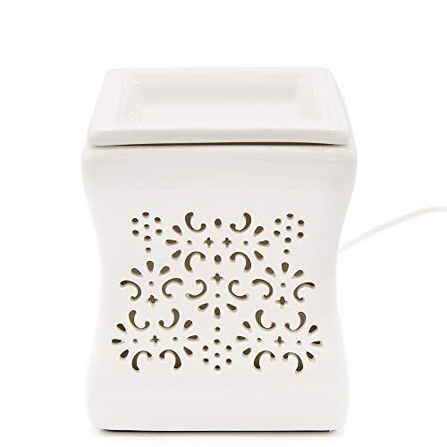 CANDLE-LITE ® Elektrische Duftlampe mit Glühbirne (25 Watt) für EIN wohltuendes Dufterlebnis - Aromalampe aus Keramik für Duftöl und Duftwachs