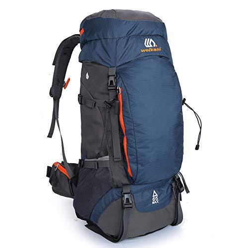 SKYSPER Zaino da Trekking 65L, Zaino Escursionismo Grande capacità con Cappuccio Antipioggia Nylon Impermeabile per Viaggio Trekking Escursione