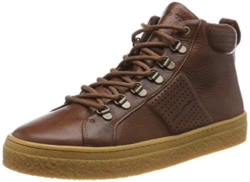 Marc O'Polo Herren 90825453502103 Hohe Sneaker, Braun (Cognac 720), 43 EU