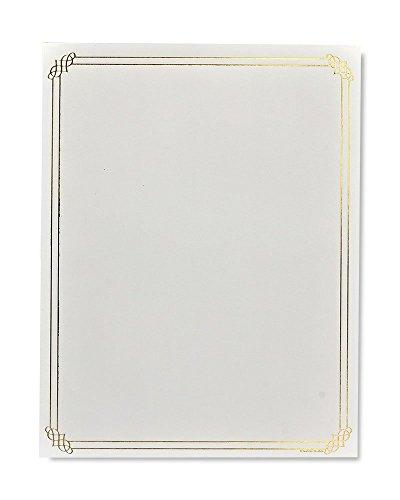 Gartner Studios Gold Foil Border Stationery, 40 count