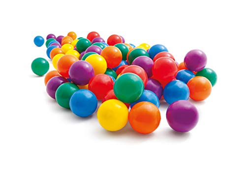 Intex 2-1/2' Fun Ballz - 100 Multi-Colored Plastic Balls, for Ages 2+