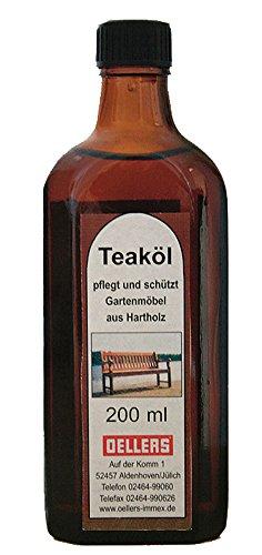 Teaköl | 200 ml | farblos | Holzpflege aus natürlichen Ölen | Pflegeöl für Hartholz und Exotenholz | wasserabweisendes Holzschutzöl