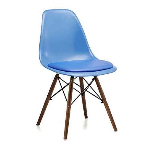 zyy eetkamerstoelen, bekleed, kunststof, massief hout, metalen frame, bureaustoel, tot 150 kg belastbaar