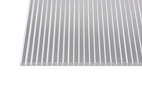 Polycarbonat Stegplatten Hohlkammerplatten klar 16 mm (1200 mm Breite) (3000 x 1200 x 16 mm)