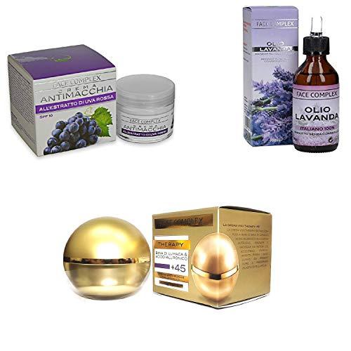 Face Complex 3 Crema 1 Antimanchas + 1 Terapy + 45 + 1 Aceite lavanda
