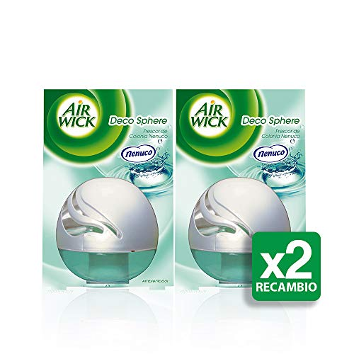 Air Wick Deco Sphere Nenuco, Ambientador - Pack de 2 x 75 ml