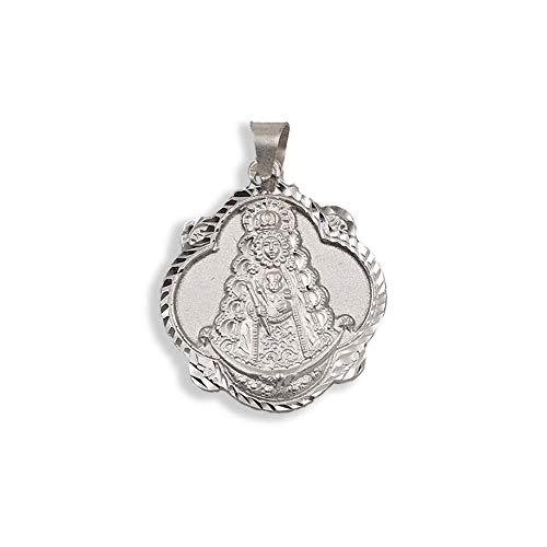 Medalla Religiosa - Virgen del Rocío Pandereta 24 mm. Plata de Ley 925 milésimas