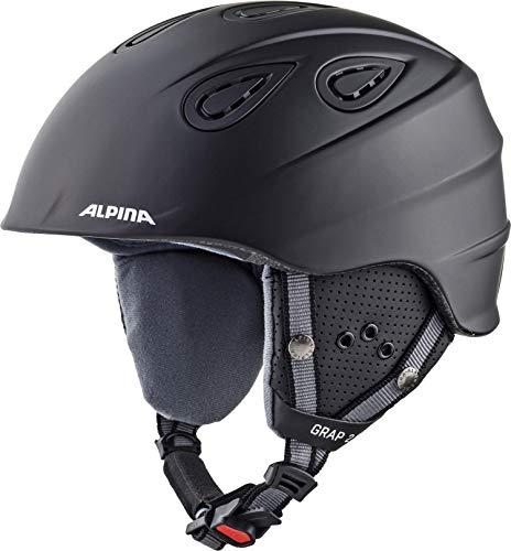 ALPINA GRAP 2.0 Skihelm, Unisex– Erwachsene, black matt, 54-57