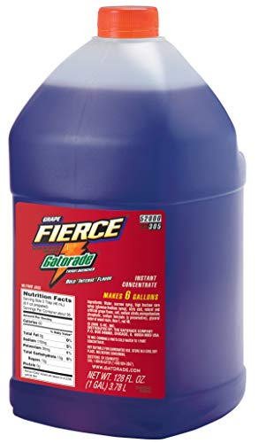 Gatorade 33305 Liquid Concentrates, Fierce Grape, 1 gal Jug (Pack of 4)
