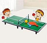 NiSotieb Indoor Mini Folded Portable Table Tennis Table Desktop Game Table Tennis Set Entertainment Toy