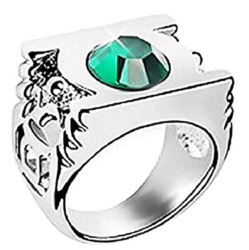 Lntrnvrd - ring met zilvergroene steen - unisex - man en jongens - vrouw en meisje