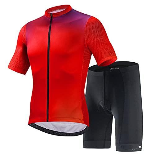 FYRMMD Maillot de ciclismo para hombre, manga corta, camisetas de ciclismo, ropa de bicicleta con secado rápido, transpirable, cómodo