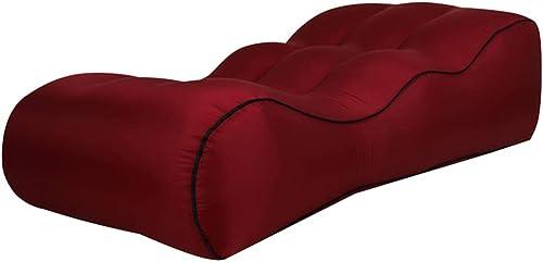 GQJQWE Camping en Plein air Sac de Couchage en Nylon Canapé Gonflable Lit de Plage de Sofa en Nylon Facile à Transporter Sac Gonflable Coussin d'ai