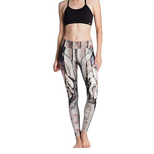 Pantalones de yoga con estampado desecado rápido y transpirable de cintura alta para mujerPantalones de gran tamaño Pantalones de estiramiento de cintura altaPantalones para correr Gris XXL