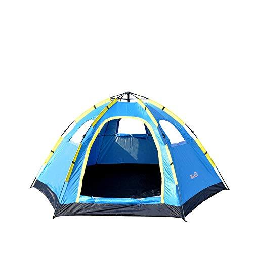 inChengGouFouX Equipo al Aire Libre 5-8 Personas Automático Hexagonal Tienda Hexagonal Tienda Impermeable Camping Camping Apertura de la Velocidad de una Sola Capa Carpa Gruesa