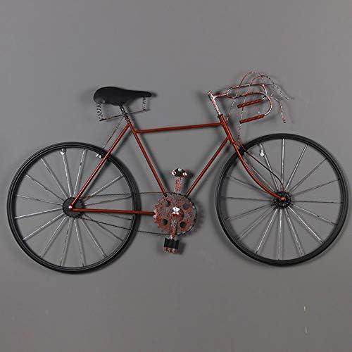 LIJUN Eisen-fürrad Wand montiert Industrie-Wind Bar Dekoration Wand h en kreative Vintage-Eisen-fürrad,rot