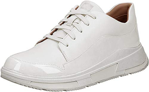 FitFlop Womens Freya Lace Up Sneaker Shoes, Urban White, US 5