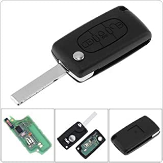 3 Buttons Keyless Uncut Flip Remote Key Fob with Light Button ID46 Chip and HU83 Blade