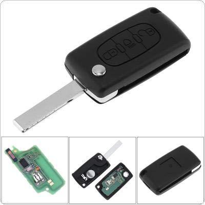 Funkschlüssel mit 3 Tasten, schlüsselloser Zugang, ungeschliffen, Klappschlüssel mit Lichttaste, ID46-Chip & HU83-Blatt, CE0536 für Citroen C3 C4 C5 Modelle 2005-2011 433 MHz