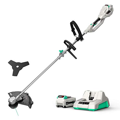 """Litheli Cordless String Trimmer 14"""", 40V Battery Grass Trimmer & Brush Cutter with Brushless Motor, Weed Wacker with Dual Line Feed for Lawn Care, 2.0Ah Battery & Charger Included"""
