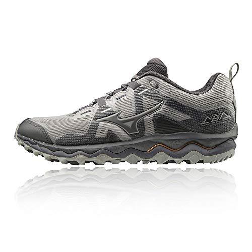 Mizuno Wave Mujin 6, Zapatillas de Running para Asfalto para Hombre, Gris (Gray/Pscope/10135 C 36), 40 EU