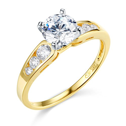 14k Yellow Gold SOLID Wedding Engagement Ring - Size 6.5