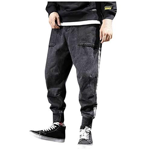 Briskorry baggy jeans herren denim jean regular fit jogg harem rock joker stylische Jogginghose groß Größen Hose Latzhose Lockere Lange High Waist Comfort Freizeithose